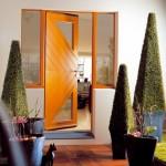 Porte d'entrée bois