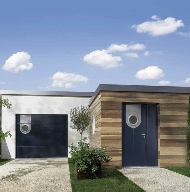 Porte d 39 entr e aluminium atoubaie for Porte de garage oregon