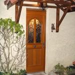 Porte d'entrée bois-Tournan en Brie